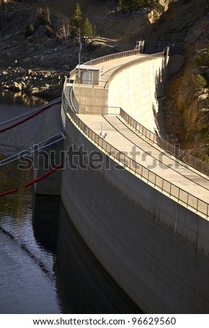 Gross Dam at Gross Reservoir Near Boulder Colorado ,USA. Named for Denver Water Former Chief Engineer Dwight D. Gross - stock photo