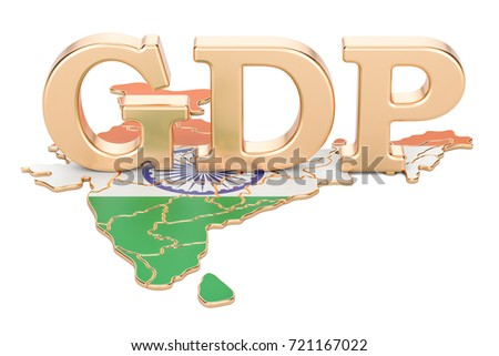 gross domestic product GDP of India concept, 3D rendering isolated on white background