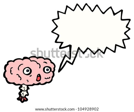 gross shocked brain cartoon
