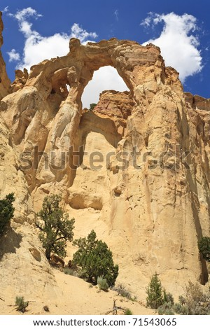 Grosvenor Arch is a natural sandstone double arch located in Grand Staircase-Escalante National Monument, Utah, USA