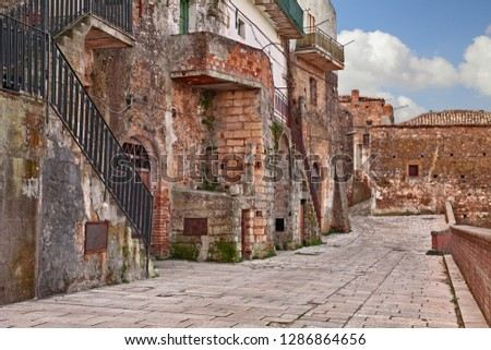 Grottole, Matera, Basilicata, Italy: ancient alley in the old town of one of the oldest villages in the region