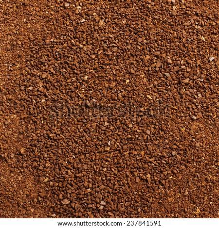 Ground coffee powder surface pattern background