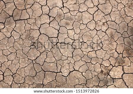 Ground cracked ground background image in dry season