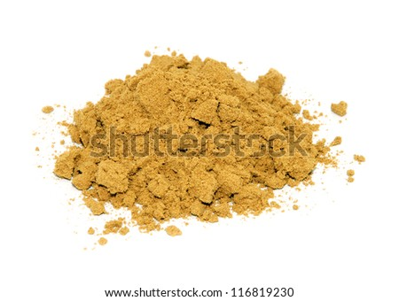 Ground cumin, isolated on a white background