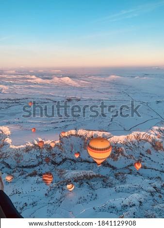 Ground Level hot  Air ballon