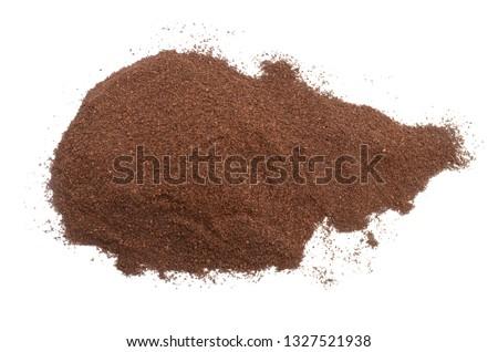 Ground medium coffee pile  top view #1327521938