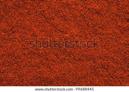Ground Paprika texture, full frame background. Used to color rices, stews, and soups, meats. - stock photo