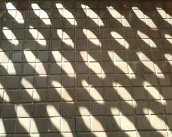 Ground reflection shadow texture closeup