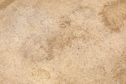 Ground texture background of beige desert soil, dusty land, dry earth and sand