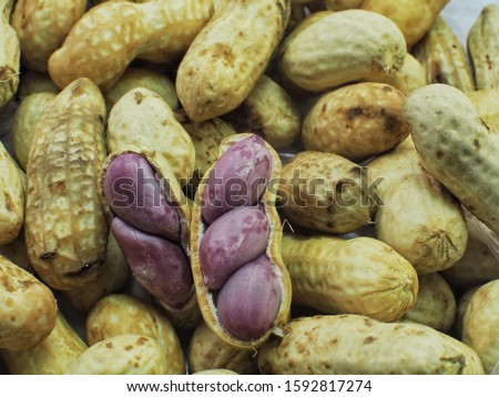 Groundnut, groundnut or ground nuts are classified as legumes so  Sweet flavor, helps nourish lungs and stomach, cure cough, diuretic, stimulate milk, suitable for people with dry cough Weak