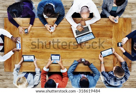Group Business People Corporate Meeting Concept - Shutterstock ID 318619484