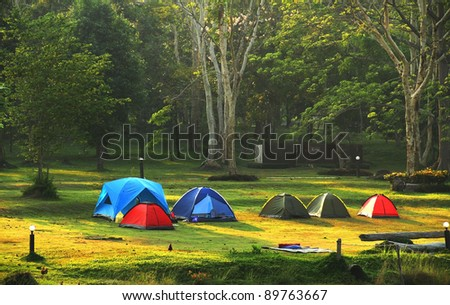 Group camps in national park #89763667