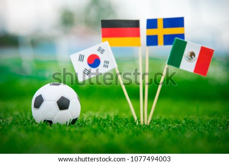 Group F National Flags of Germany, Mexico, Sweden, Korea Republic, South Korea #1077494003