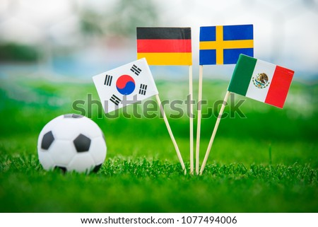 Group F - National Flags of Germany, Mexico, Sweden, Korea Republic, South Korea #1077494006