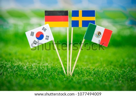 Group F -  National Flags of Germany, Mexico, Sweden, Korea Republic, South Korea #1077494009