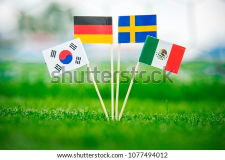 Group F -National Flags of Germany, Mexico, Sweden, Korea Republic, South Korea #1077494012