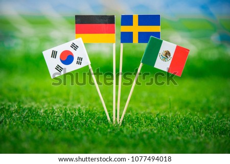 Group F -National Flags of Germany, Mexico, Sweden, Korea Republic, South Korea #1077494018