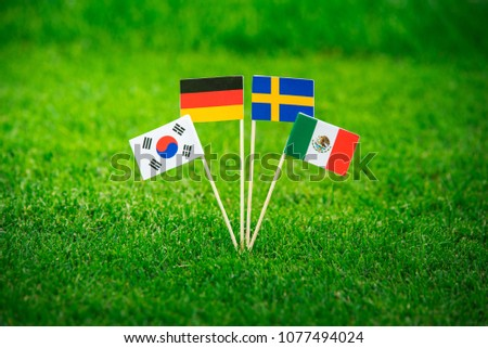 Group F National Flags of Germany, Mexico, Sweden, Korea Republic, South Korea #1077494024