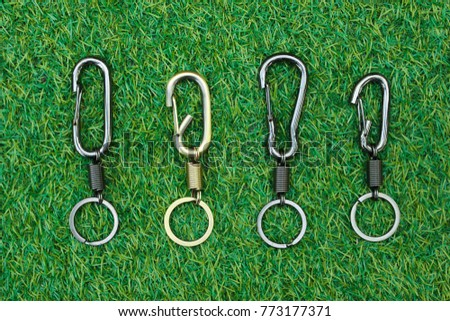 Group Key chain on grass