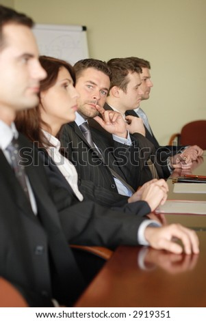 Group of attorneys at the meeting