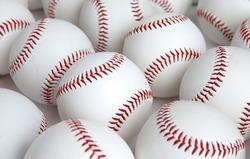 Group of Baseballs with no logos on white background