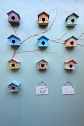 Group of bird house