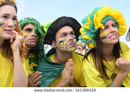 Group of Brazilian soccer fans concerned.