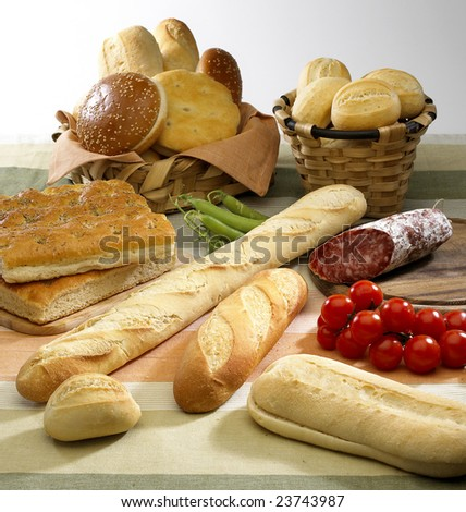 Group of bread