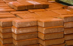 Group of bricks square for building and construction materials