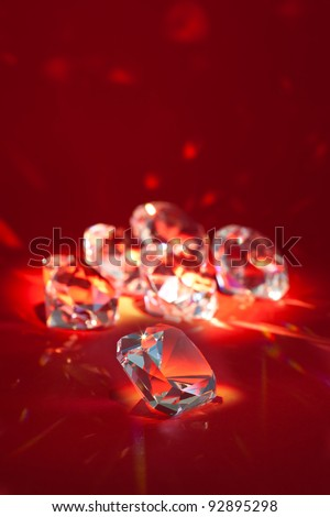 Group of brilliant diamonds