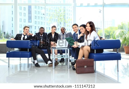 Group of business colleague in a meeting together at office