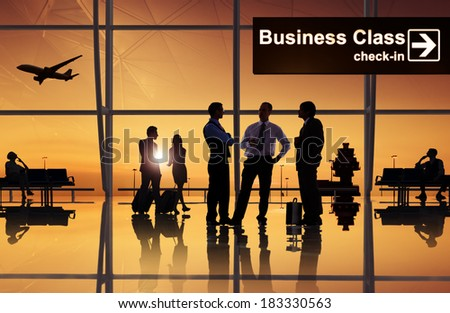 Group of Business People at Airport stock photo