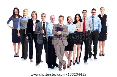 Group of business people. Business team. Isolated over white background. #133234415