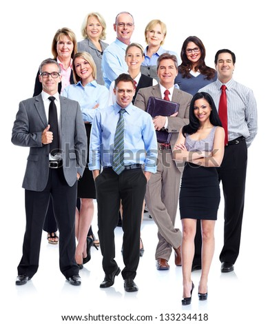 Group of business people. Business team. Isolated over white background. #133234418