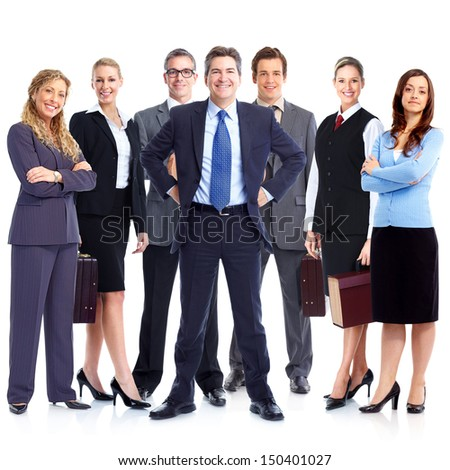 Group of business people. Business team. Isolated over white background. #150401027