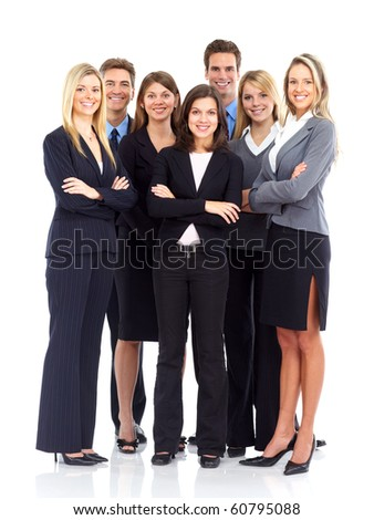 Group of business people. Business team. Isolated over white background #60795088
