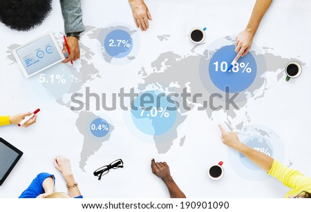Group of Business People Discussing Global Market