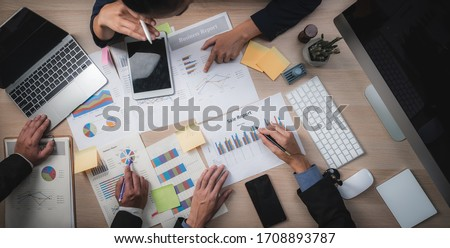 Group of Business People Diverse Brainstorm Meeting Concept, Working in the Office Concept Foto stock ©
