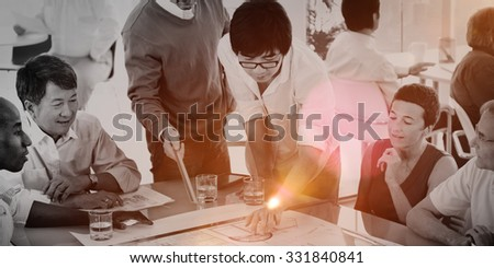 Group of Business People in the Office Brainstorming Concept #331840841