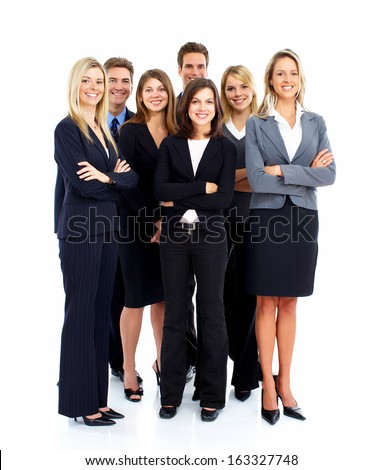 Group of business people Isolated over white background. #163327748