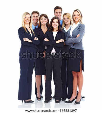 Group of business people Isolated over white background. #163331897
