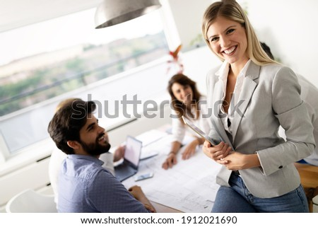 Group of business people meeting in office, sharing their ideas. Photo stock ©