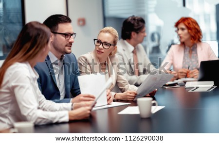 Group of business people.Portrait of successful business people team. #1126290038
