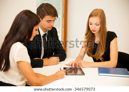 Group of Business people searching for solution with brainstorming - Team work - Shutterstock ID 346579073