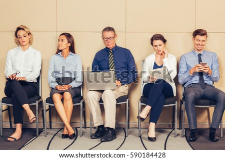 Group of Business People Waiting for Interview - Shutterstock ID 590184428