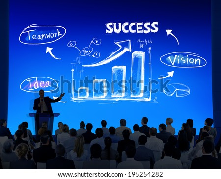 Group of Business People with  Presentation Concept
