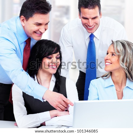 Group of business people working in the office. - stock photo