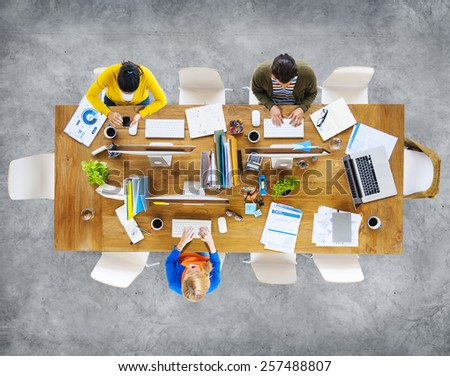 Group of Business People Working in the Office #257488807