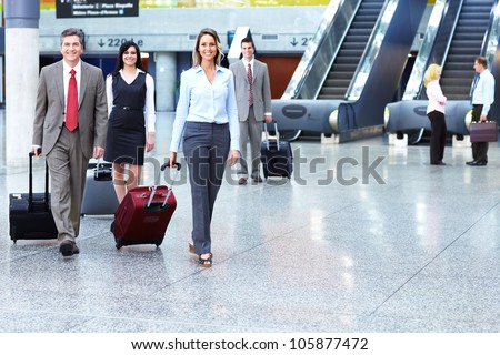 Group of business person at the international airport. #105877472