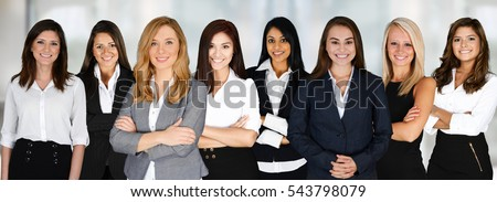 group of businesswomen working...
